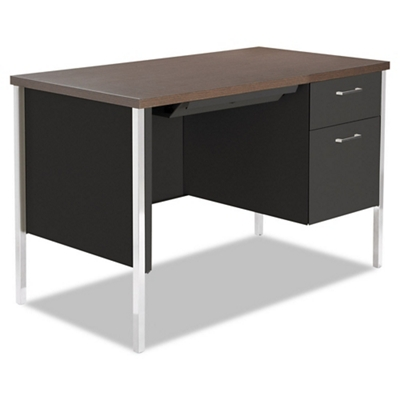 "Compact Single Pedestal Metal Desk 45"" x 24"""