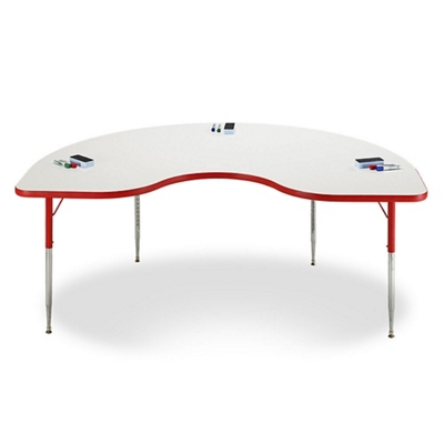 "Kidney White Board Table Top - 48""W x 72""D"