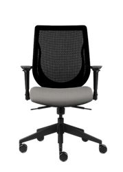 Mesh Back Office Chair with Vinyl Seat
