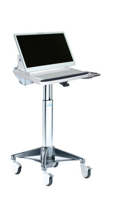 Angled LCD Cart with Hot Swappable Surface-Mounted Battery
