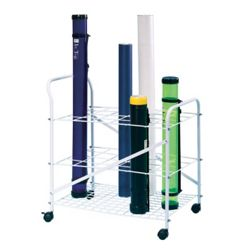 Roll File Cart with 24 Openings