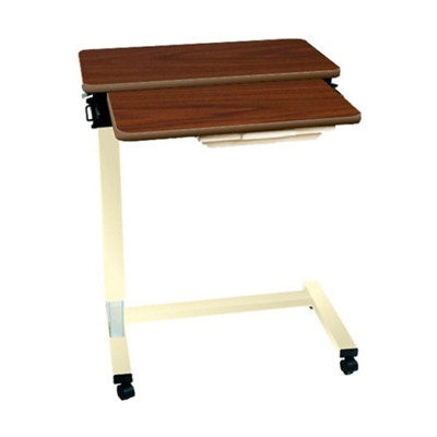 """Split-Top Overbed Fork Base Table with Thermoformed Top - 32""""W"""