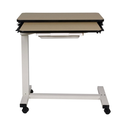 """Split-Top Overbed H-Base Table with Thermoformed Top - 32""""W"""