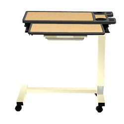 "Executive Split-Top Overbed U-Base Table with Laminate Top - 30""W"