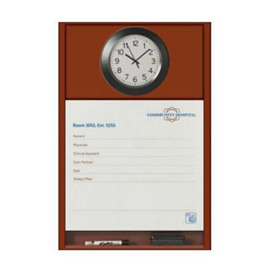 """Patient Dry Erase Board with Clock - 25.5""""W x 36""""H"""