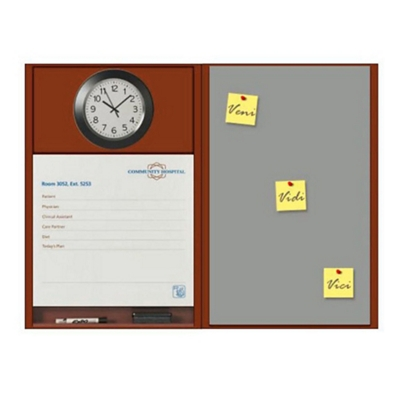 "Patient Dry Erase Board with Clock and Tackboard - 50.5""W x 36""H"