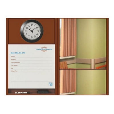 "Patient Dry Erase Board with Clock and Mirror - 50.5""W x 36""H"