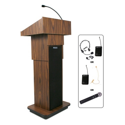 Adjustable Height Wireless Lectern