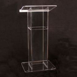 H Style Acrylic Lectern