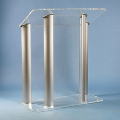 Four Post Aluminum and Acrylic Lectern