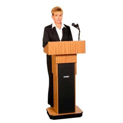 Adjustable Height Lectern with Sound