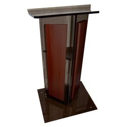 Contemporary Wood and Acrylic Lectern
