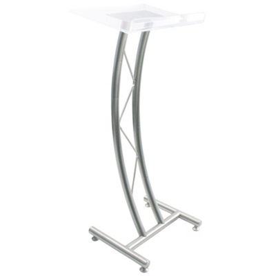 """Curved Acrylic Truss 43""""H Lectern"""