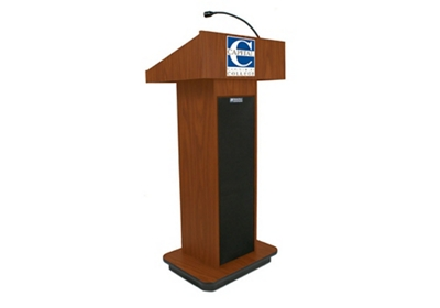 "Single Column Customizable Logo Lectern with Sound - 47""H"