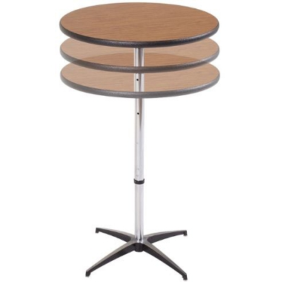 "Adjustable Height Round Cocktail Table - 36"" Diameter"
