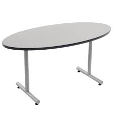 "Standing Height Elliptical Cafe Table - 60""W x 30""D"