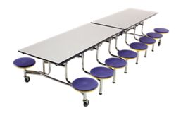 Cafeteria Table with 16 Stools - 12'