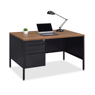 Midland Single-Pedestal Steel Desk - 48 W x 30 D