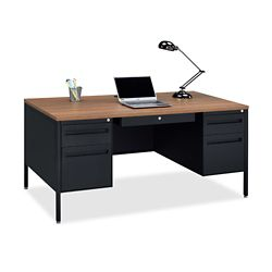 Midland Double-Pedestal Steel Desk - 60 W x 30 D