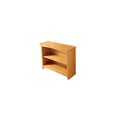 """Two Shelf Solid Wood Bookcase - 36""""H"""