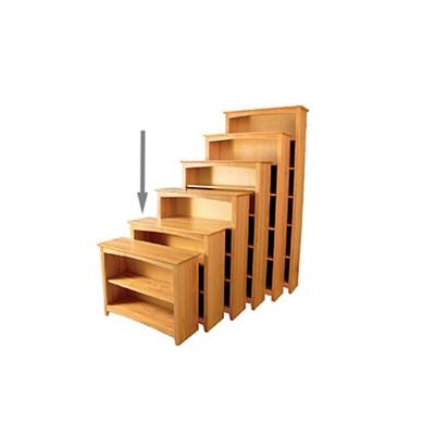 "Three Shelf Solid Wood Bookcase - 36""H"