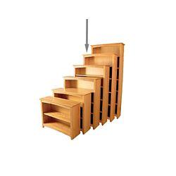 "Five Shelf Solid Wood Bookcase - 72""H"
