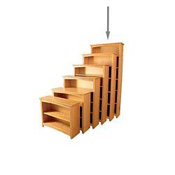 """Six Shelf Solid Wood Bookcase - 84""""H"""