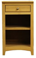 """Solid Wood One Drawer Pedestal with Two Shelves - 18""""W"""