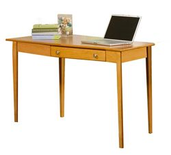 "Solid Wood Desk with Left Wedge - 56""W"