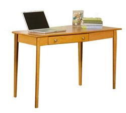 "Solid Wood Desk with Right Wedge - 56""W"