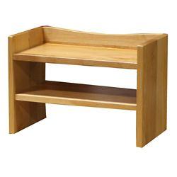 """Solid Wood Two Shelf Hutch - 28""""W"""