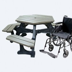 Recycled Plastic Handicap Accessible Plaza Picnic Table