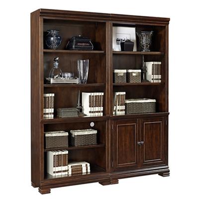 "Ten Shelf Bookcase Wall- 75.5""H"
