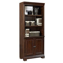 "Five Shelf Bookcase with Doors - 75.5""H"
