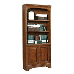 "Five Shelf Bookcase with Doors - 77.5""H"
