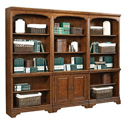 "Fifteen Shelf Bookcase Wall - 78""H"