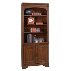 "Six Shelf Bookcase with Doors - 79""H"