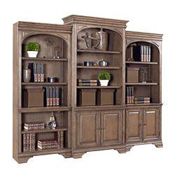 "Three Piece Bookcase Wall - 103.75""W"