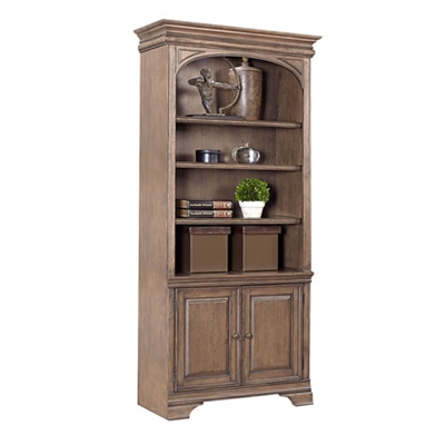 """Lighted Bookcase with Doors - 84""""H"""