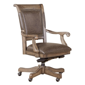 Bonded Leather Office Chair With Nailhead Trim 55108 And More Lifetime Guarantee
