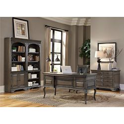 Half Pedestal Bowfront Desk Office Suite