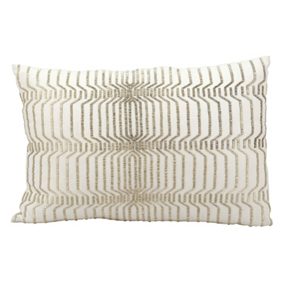 """kathy ireland by Nourison Beaded Rectangular Accent Pillow - 24""""W x 16""""H"""