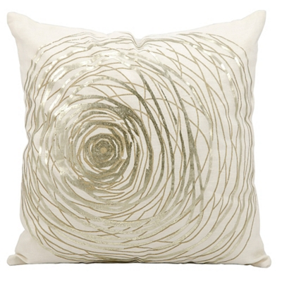 "kathy ireland by Nourison Metallic Swirl Accent Pillow - 19""W x 19""H"