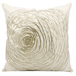 "kathy ireland by Nourison Metallic Swirl Accent Pillow - 19""W x 19""H"