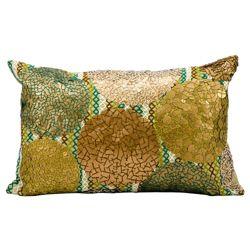 "kathy ireland by Nourison Metallic Rectangular Accent Pillow - 20""W x 12""H"