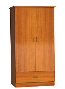 "Two Door and One Drawer Wardrobe Cabinet - 72""H"