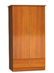 """Two Door and One Drawer Wardrobe Cabinet - 72""""H"""