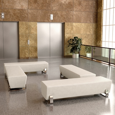 Four Bench Lobby Set