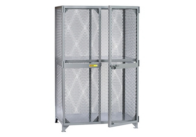 "Metal Mesh One Shelf Storage Locker - 78""H x 49""W"