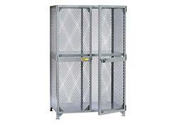 "Metal Mesh One Shelf Storage Locker - 78""H x 49""W"